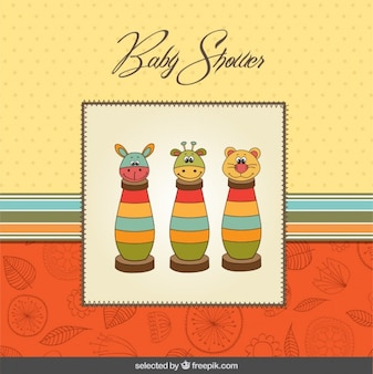 Baby shower with colorful toys