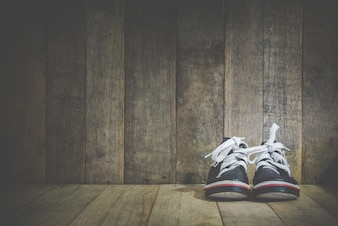 Baby sneakers wooden