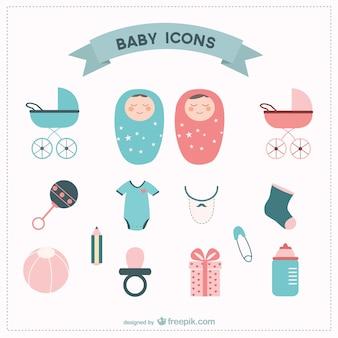 Baby vector elements set