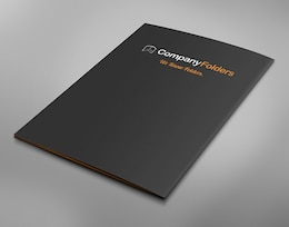 Back Cover Business Folder Mockup Template Free PSD