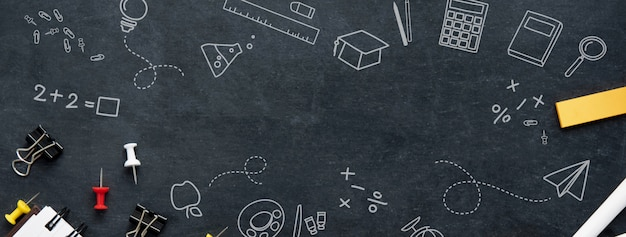 Back to school education banner background