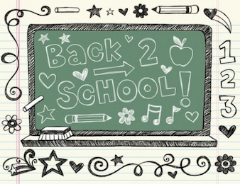 Back to school doodle painting vector
