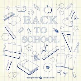 Back to school doodles background