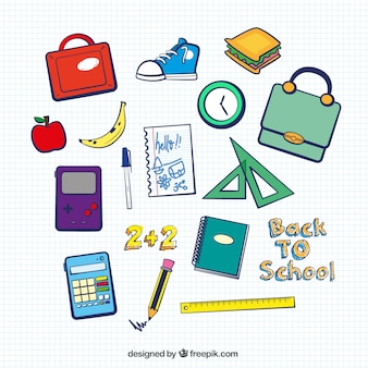 Back to school elements