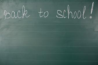 Back to school words on blackboard