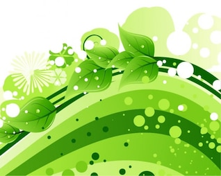 backdrop green leaves background vector