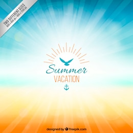 Background for summer vacation