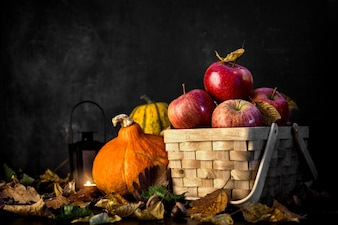 Background of autumnal harvest