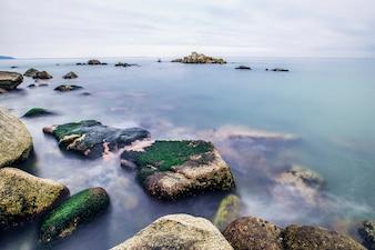 Background seaside coast shore exposed