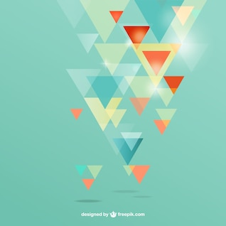 Background with abstract triangles