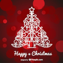 Background with artistic Christmas tree