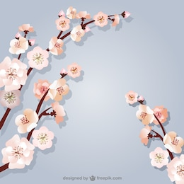Background with cherry tree branches