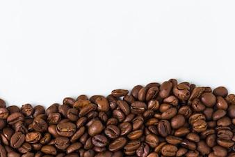 コーヒー豆と背景