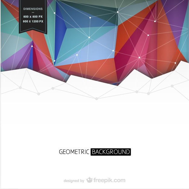 Background with colorful geometrical shapes