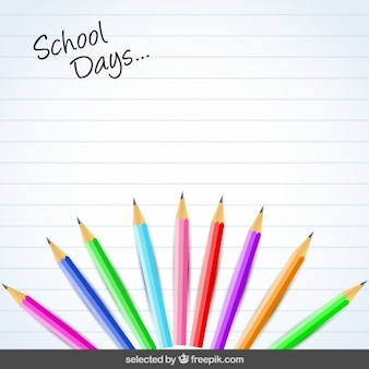 Background with colorful pencils