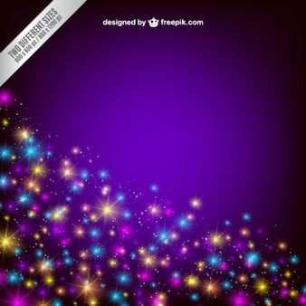 Background with colorful sparkles