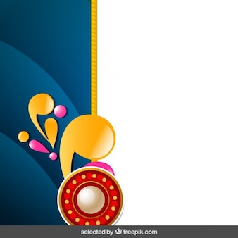 Background with Rakhi ornaments