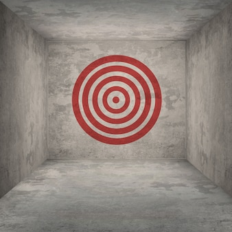 Background with target on wall