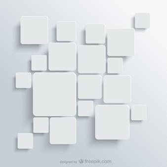 白い四角の背景無料のベクトル