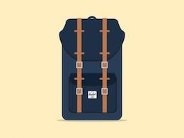 Backpack herschel vector illustration