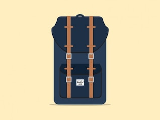Backpack herschel vector illustration