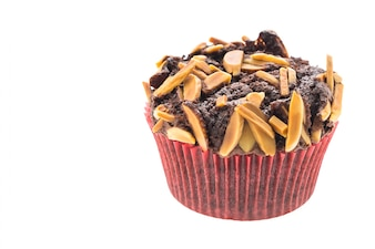 Baked chocolate muffin