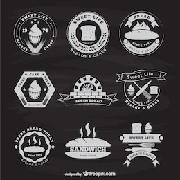 Bakery and bread vintage stickers