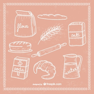 Bakery scribbles collection