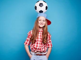 Ball player ball cap soccer