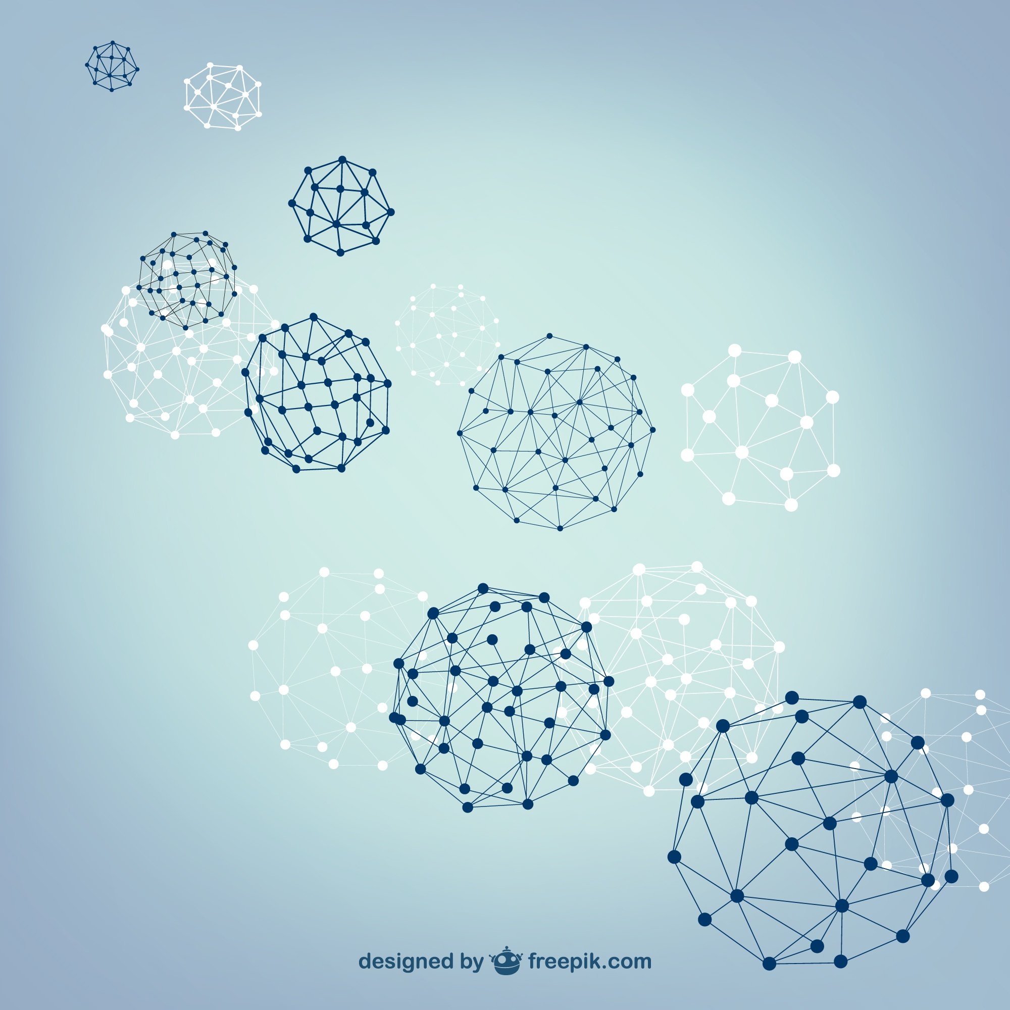 Ball spheres vector structure
