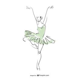 Ballerina dancer vector