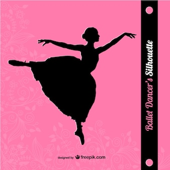 Ballet vector art silhouette design