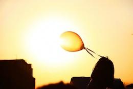 Balloon and the sunlight
