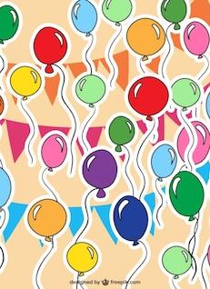 Balloons vector pattern
