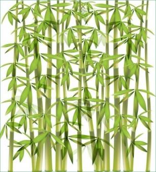 竹の木の緑の背景ベクトル