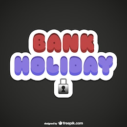 Bank Holiday lettering