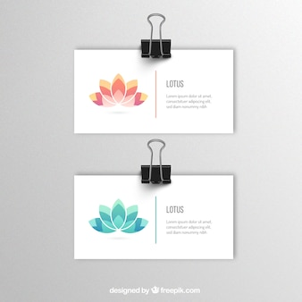 Banners template with lotus flower