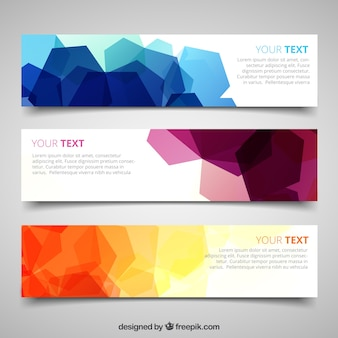 Banners with abstract geometric