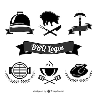 Barbecue cooking logos