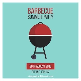 Barbecue free poster design