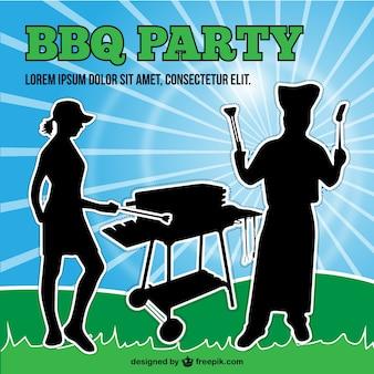 Barbecue silhouette vector