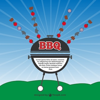 Barbecue vector party invitation card