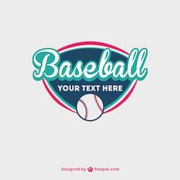 Baseball ball free vector template