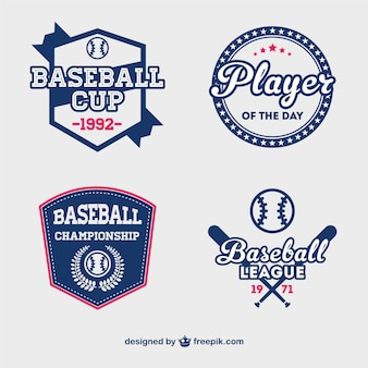 Baseball cup badges free vector