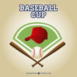 Baseball cup free vector