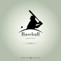 Baseball player silhouette logo