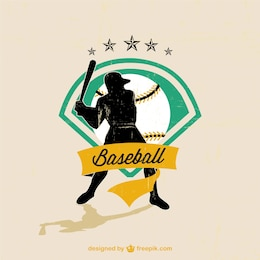 Baseball vector player free image