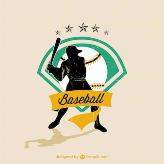 Baseball vector player free image