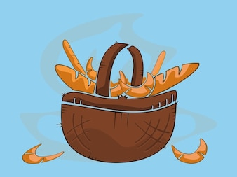 basket filled with freshly baked pastry