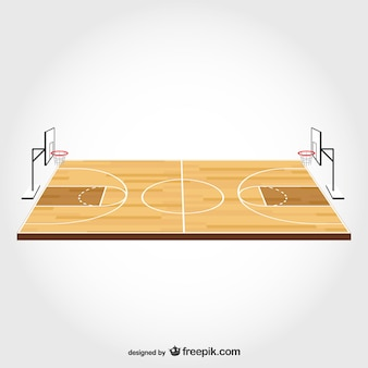 Basketball field free vector